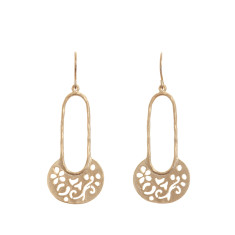 Oriental earrings in gold
