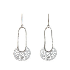 Oriental earrings in silver