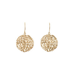 Nest earrings in gold