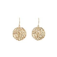 Nest earrings in gold