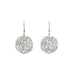 Nest earrings in silver