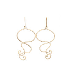 Wavey earrings (gold)
