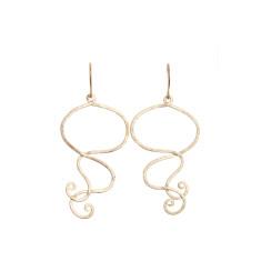 Wavey earrings (gold)