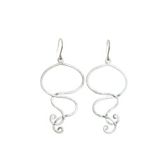 Wavey earrings (silver)