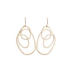 Swirl earrings (gold)