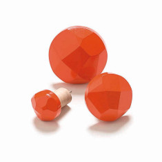 Geo wood display hooks in orange (packs of 3)