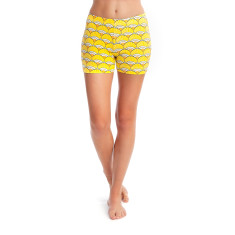 Hot like a sunrise short stretch shorts
