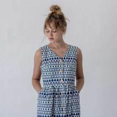 Frida Blue Linen Dress