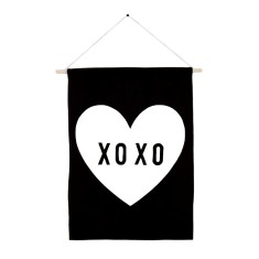 XOXO love heart handmade wall banner