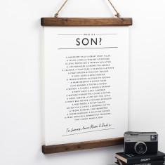 Son Poem Print