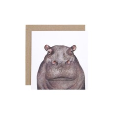 Hippo greeting card (pack of 5)