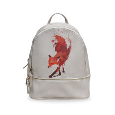 Vulpes Fox Small White Vegan Leather Backpack