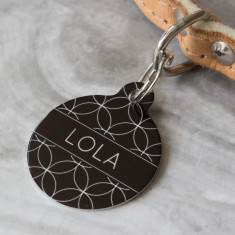 Geometric Circle Pet ID Tag
