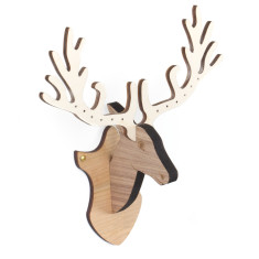 Amanda Coleman - Deer Head Wall Mounted Jewellery Stand