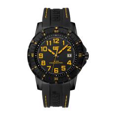 CAT PV-1 series watch in gun metal steel with black face