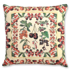 Cherries 02 linen cushion cover