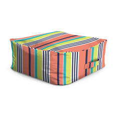 Stripe outdoor ottoman bean bag