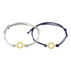 Golden clover bracelet