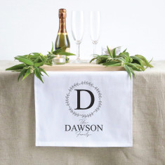 Personalised initial family table runner (3 sizes)
