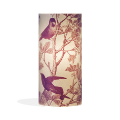 Phoebe A3 lamp with aviary plum paper