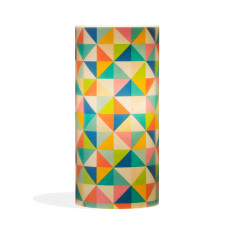 Phoebe A3 lamp with kaleidoscope paper