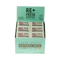 Lemon Myrtle Exfoliating Soap Box of 24 x 100gm
