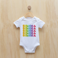 Personalised rainbow gradient girl bodysuit