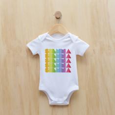 Personalised rainbow gradient girl bodysuit