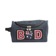 Personalised navy toiletries Bag