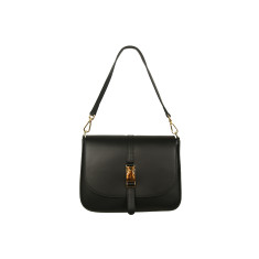 Elizabeth leather cross body bag in black