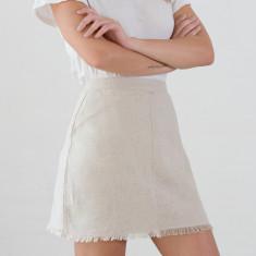 Poppy linen blend skirt