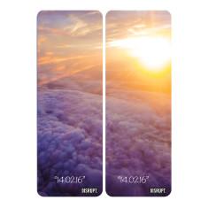 Personalised couple's yoga mats in sunset cloud design