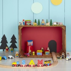 Wooden Train Track Pieces