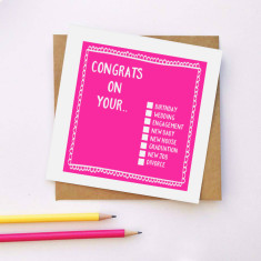 Congrats checklist greeting card