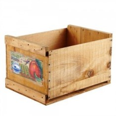 Vintage apple crate with label