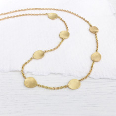 Flower Petals Necklace in 18ct Gold