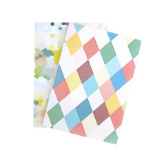 Argyle and pastel glass notebooks (set of two)