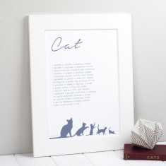 Cat personalised poem print