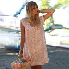 Isla Sasak Dress In Coral