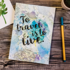 To travel is to live quote travel journal
