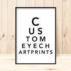 Personalised eye chart print