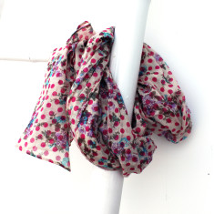 Personalised maddison spot & floral summer scarf