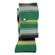 Striation wool scarf