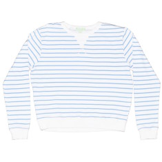 Blue zebra women's sweat top