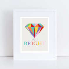 Shine bright diamond art print