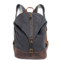 Canvas backpack in grey
