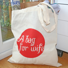 A bag for wife printed tote cotton bag