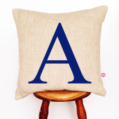 Personalised initial cushion cover (various colours)