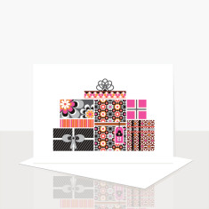 A pile o' presents greeting card (pack of 8)