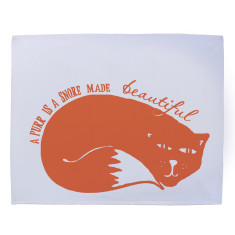 A purr is a snore made beautiful tea towel